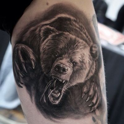 Grizzly Bear Tattoos