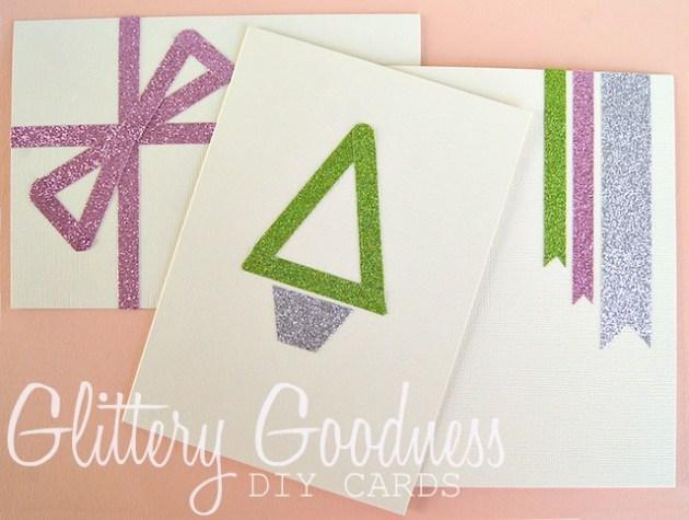 glitter tape diy Christmas cards