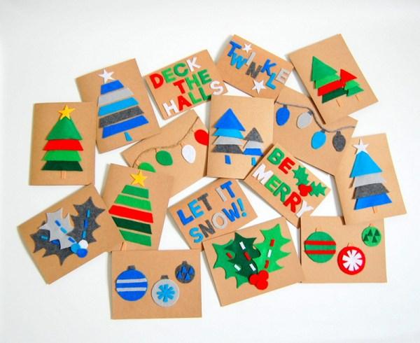 homemade diy christmas holidays cards 2017
