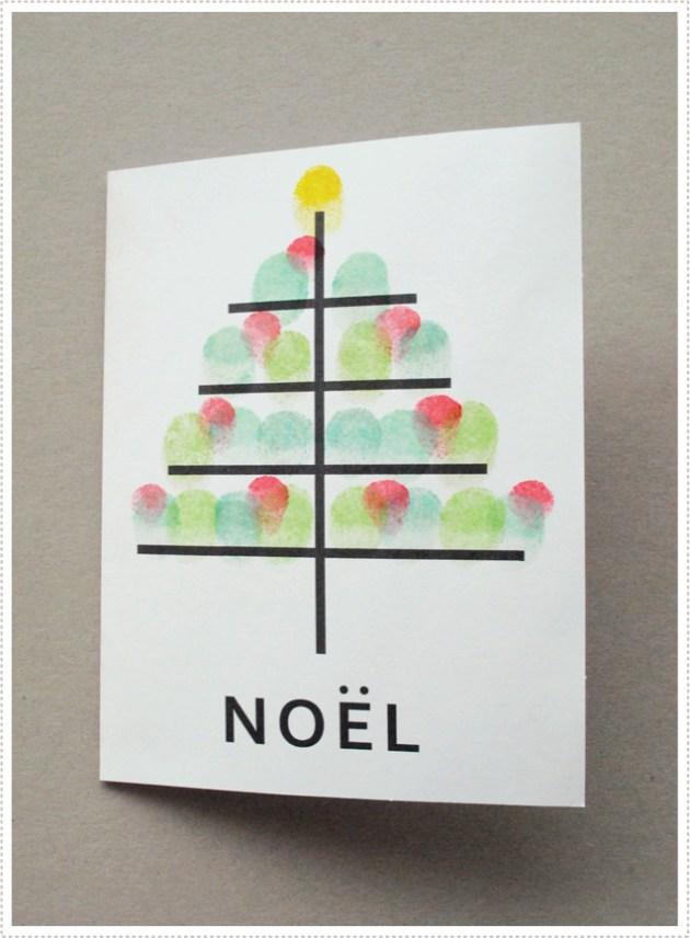 thumb print Christmas cards