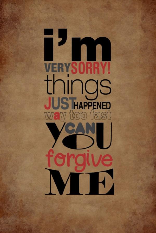 im very sorry