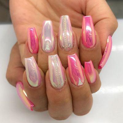 pink nil art