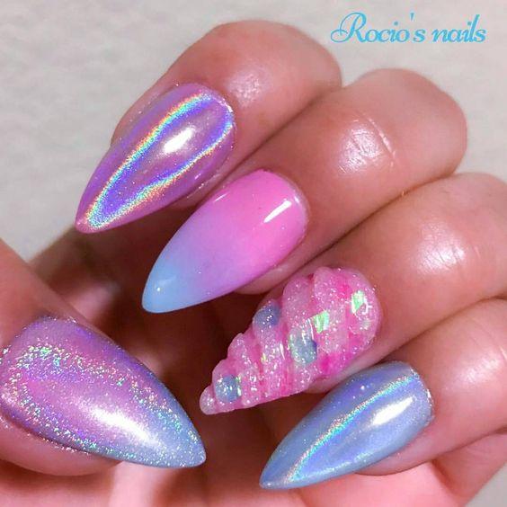 unicorn nail art