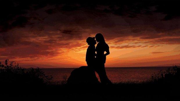 hd silhouette love couple romantic photo background