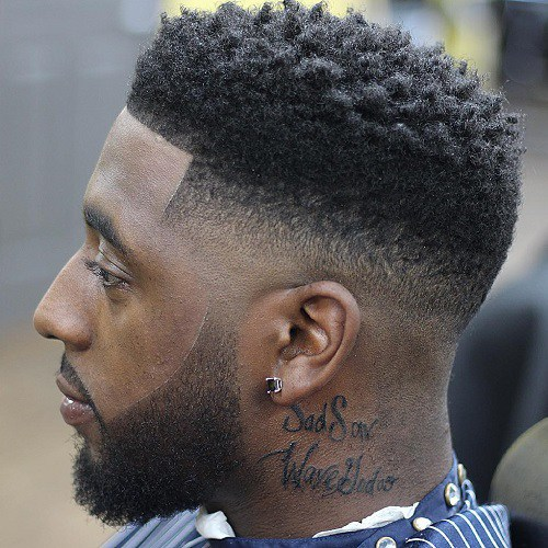 Curly Flat Top Haircut