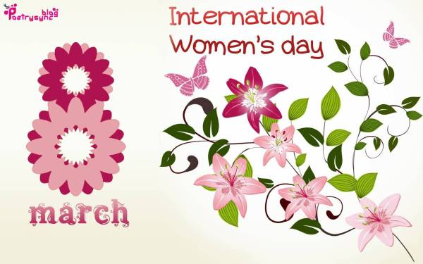 international womens day 8 march floral wallpaper