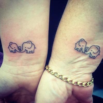 two elephant tattoo