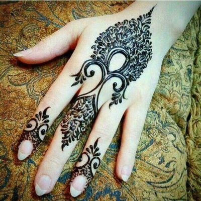 stylish back hand mehndi pattern for eid 2018
