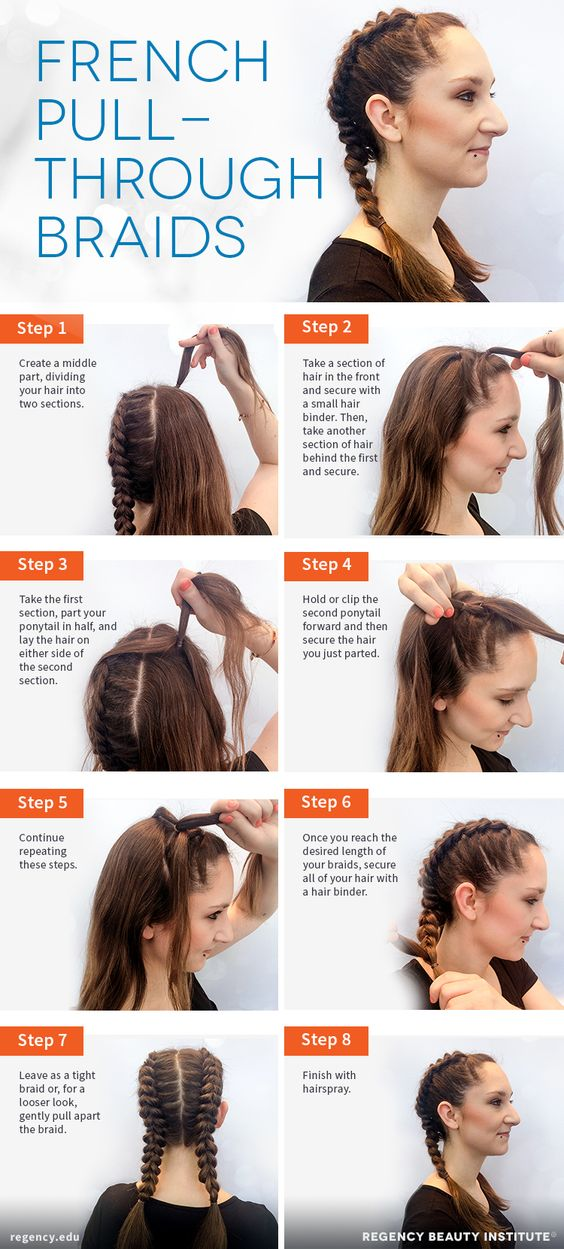 easy steps to create french braided pigtails