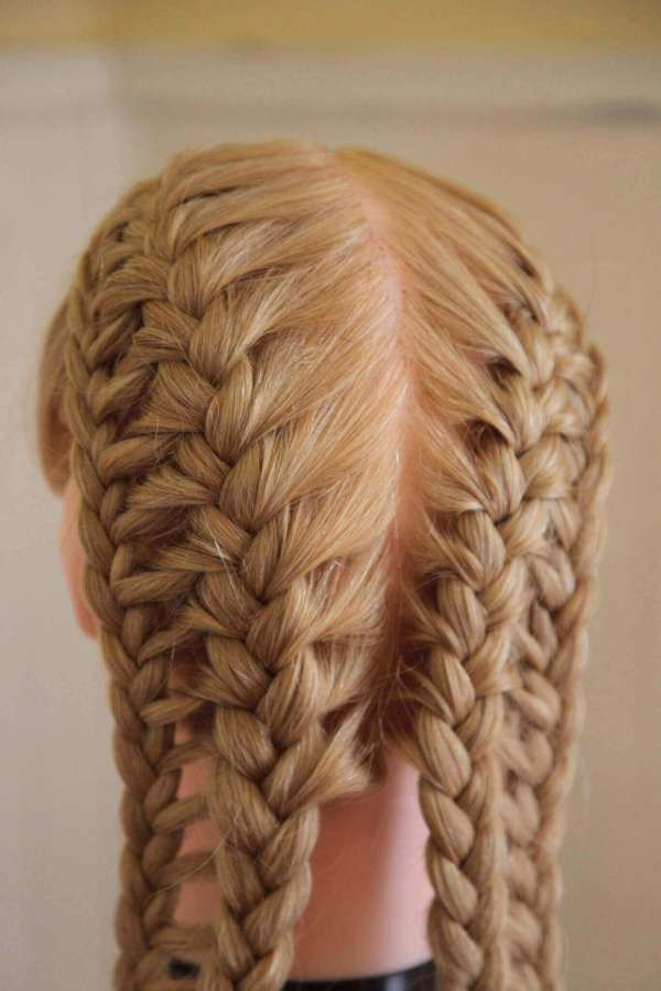 french ladder braided pigtails