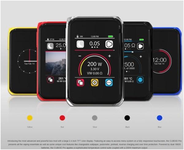 joyetech touch screen mod 200w