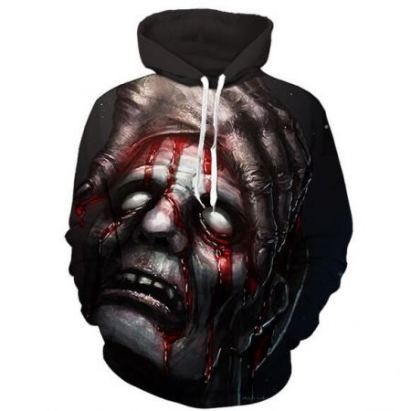 bloody zombie 3d horror hoodie for halloween