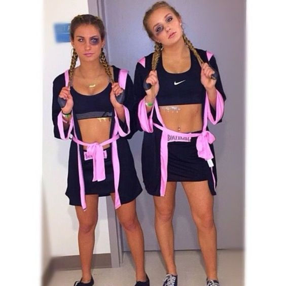 boxing girls college costume ideas for halloween