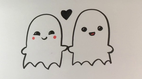 diy cute halloween love ghosts paper drawing