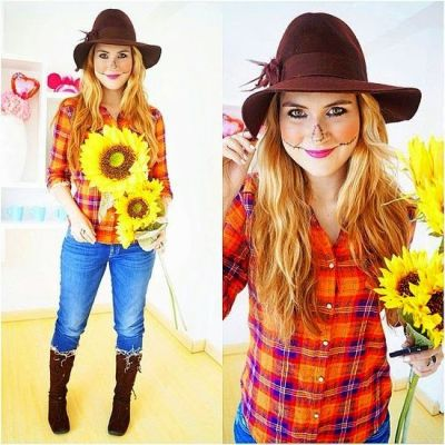 scarecrow costume ideas for college girls on halloween