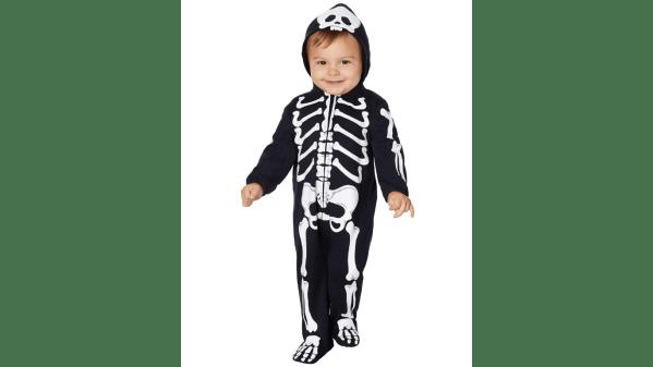 spooky skeleton baby costume