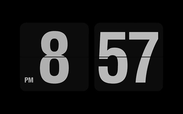 digital clock screensaver