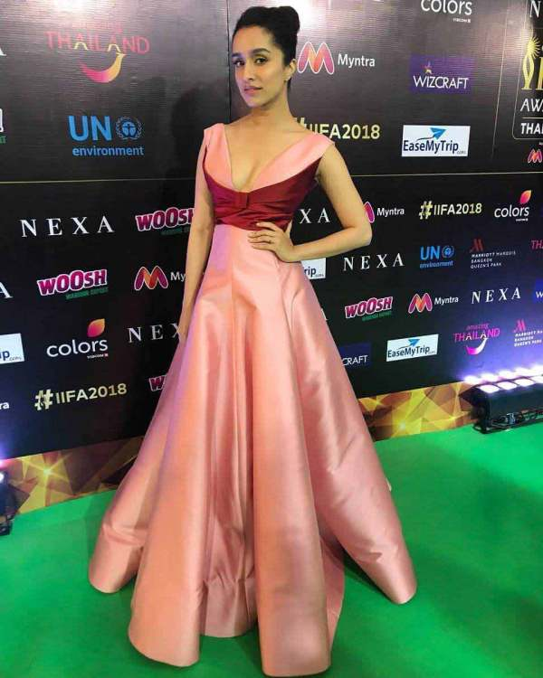Shraddha Kapoor Pink Gown Dress