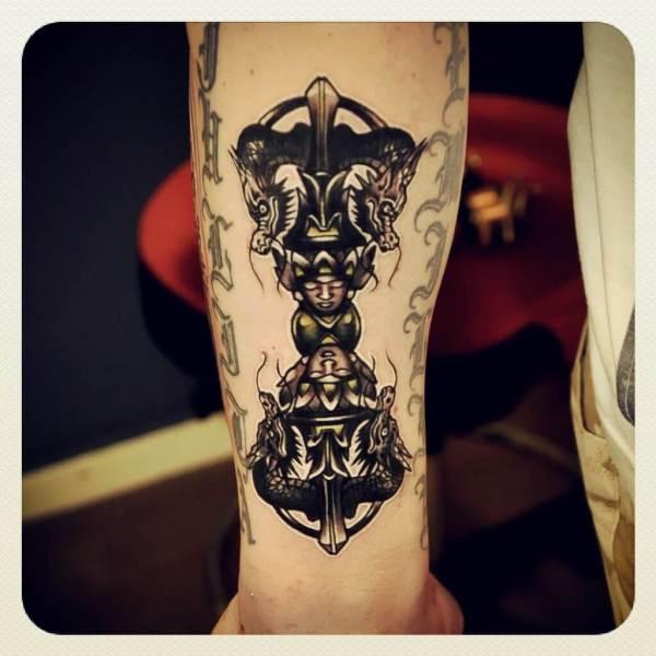 vajra tattoo ideas