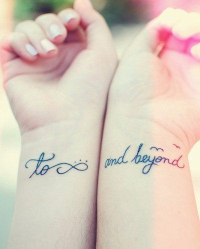 to infinity and beyond tattoo ideas on wrist for best friends