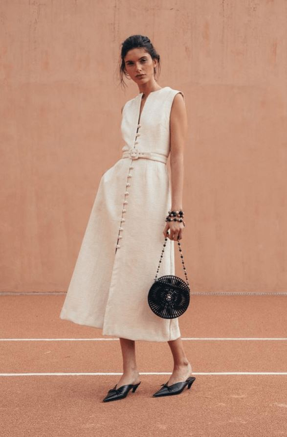 white cotton summer dress for women