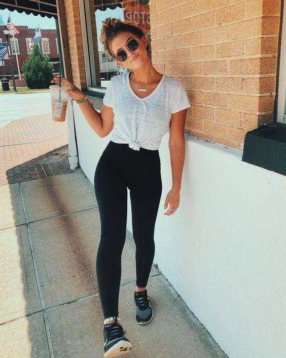 black legging outfits