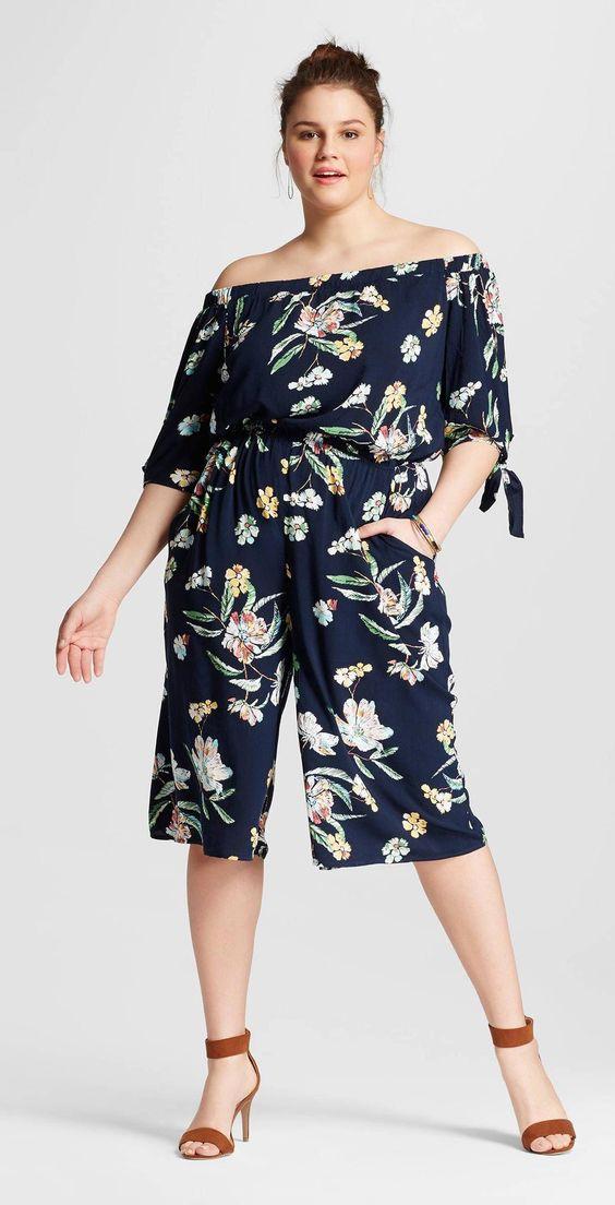 trendy plus size summer jumpsuit