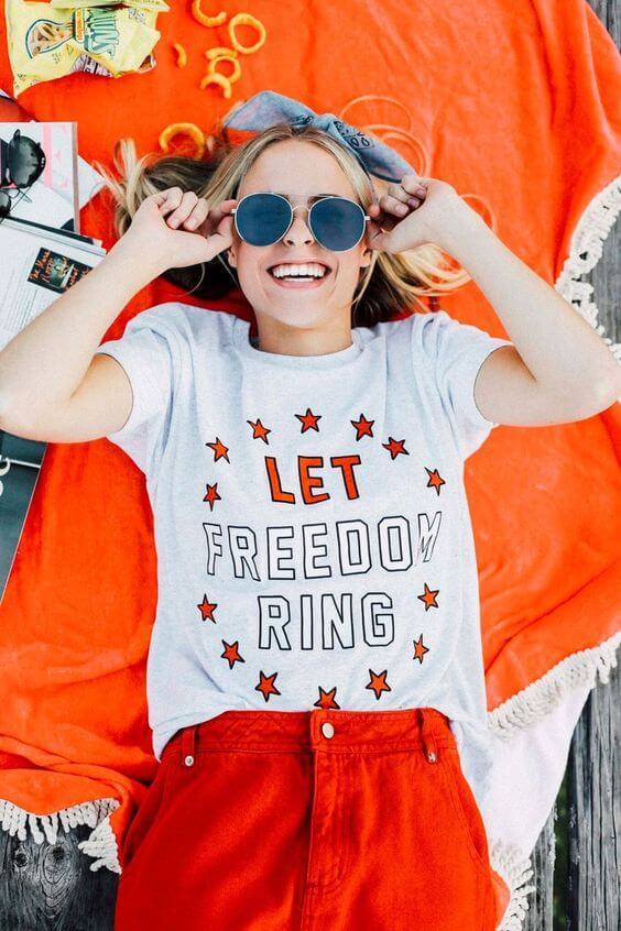 fourth of july tees for girls