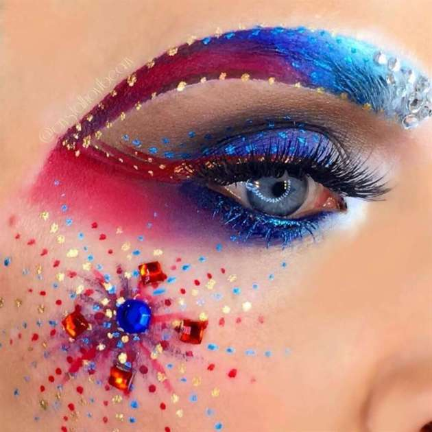 happy independence day makeup ideas