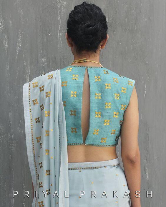 latest blouse back design 2019