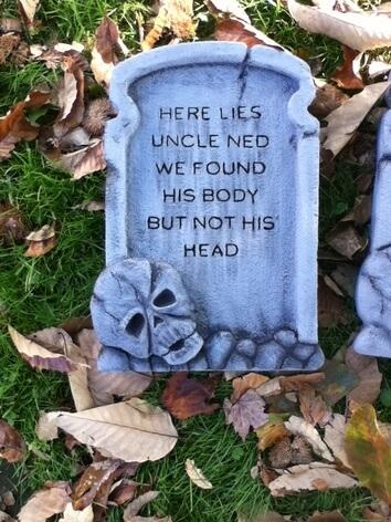 funny creepy tombstone design ideas for halloween