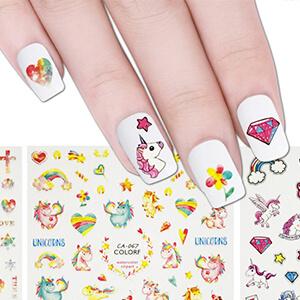 unicorn nail art stickers
