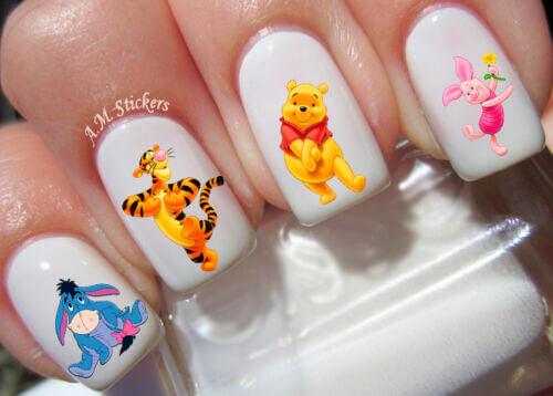 winnie the pooh nail art stickers