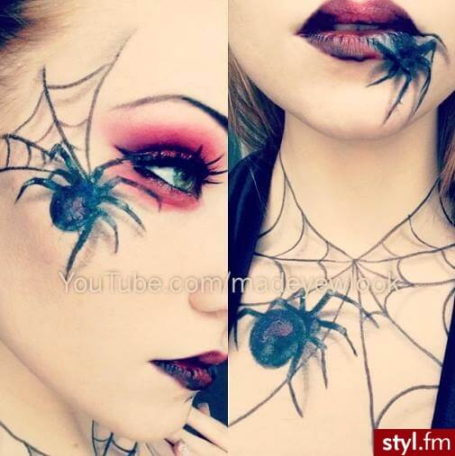 3d spider halloween makeup ideas