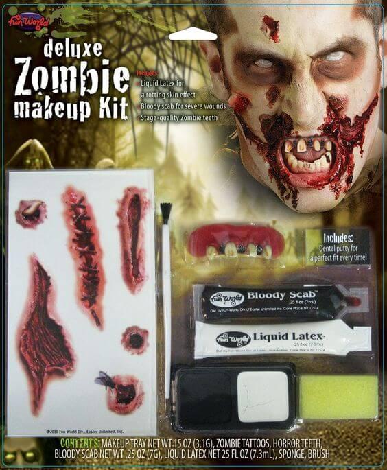 Deluxe Zombie Makeup Kit