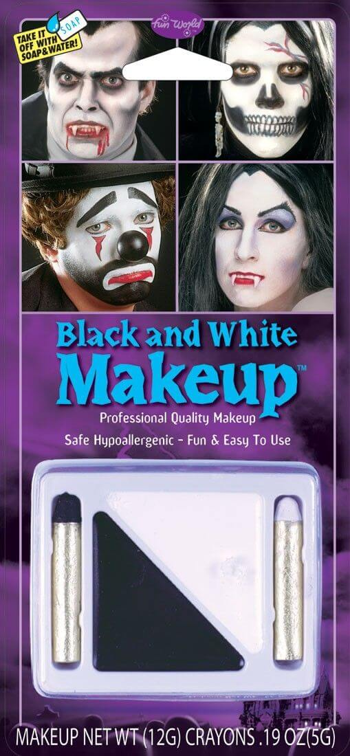 Fun World Black and White Make-Up Kit