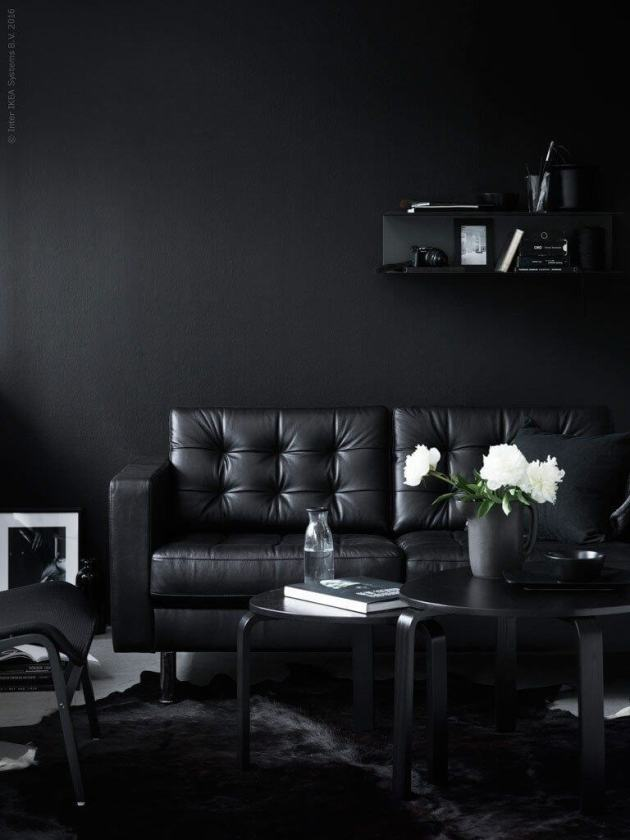 all black decor