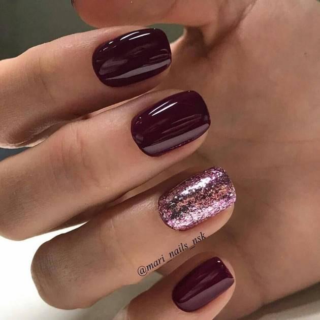 dark color gel fall nail designs