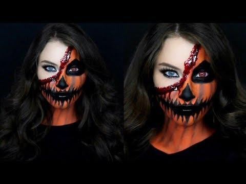 half pumpkin half human makeup