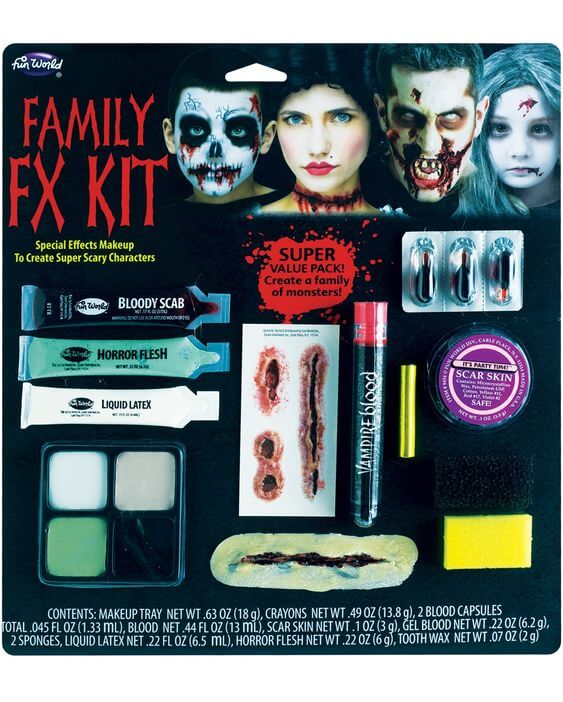 halloween family fx make-up kit