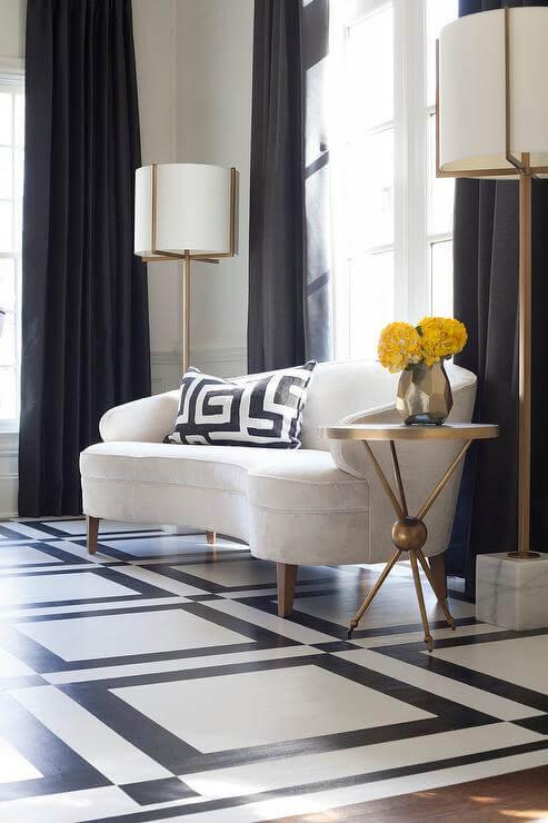 luxurious black and white interior decor
