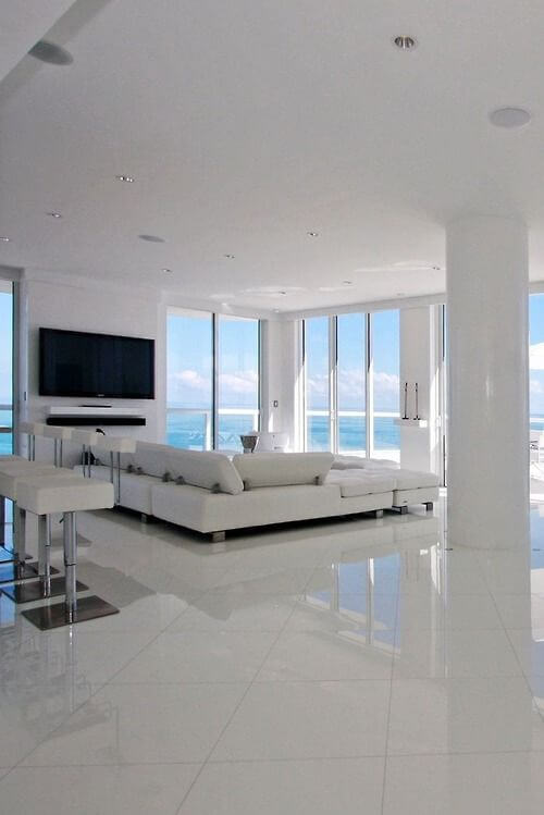 modern houses with white and black decor