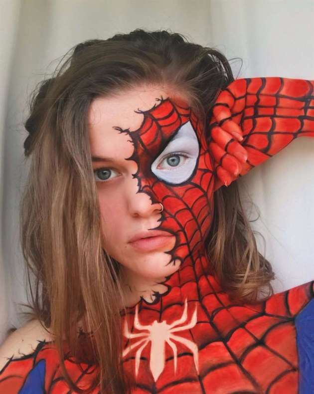 spider woman body painting ideas