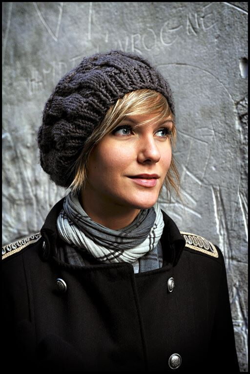 knit slouchy hat winter beanie for short hair