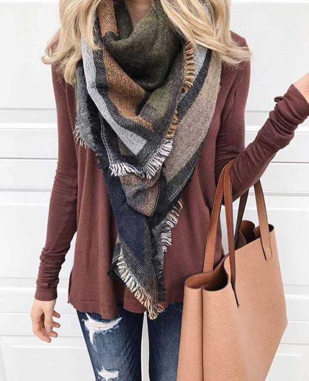 scarf outfit ideas for winter