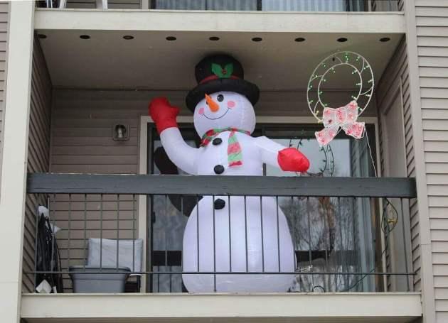 snowman christmas balcony decorations