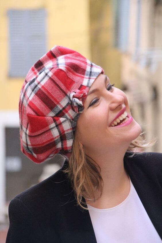 womens woolen beret hats for short hair