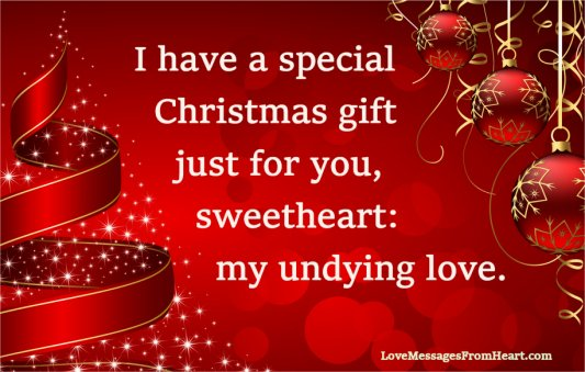 christmas images with love messages for  sweetheart