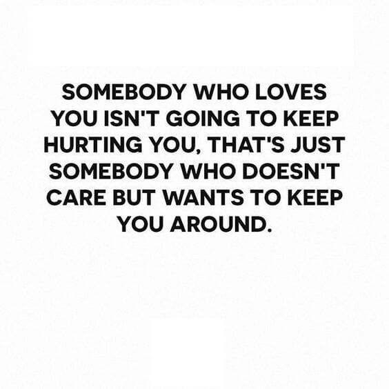 hurting love quote image