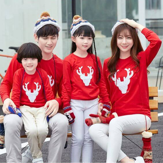 matching family reindeer sweater outfit ideas